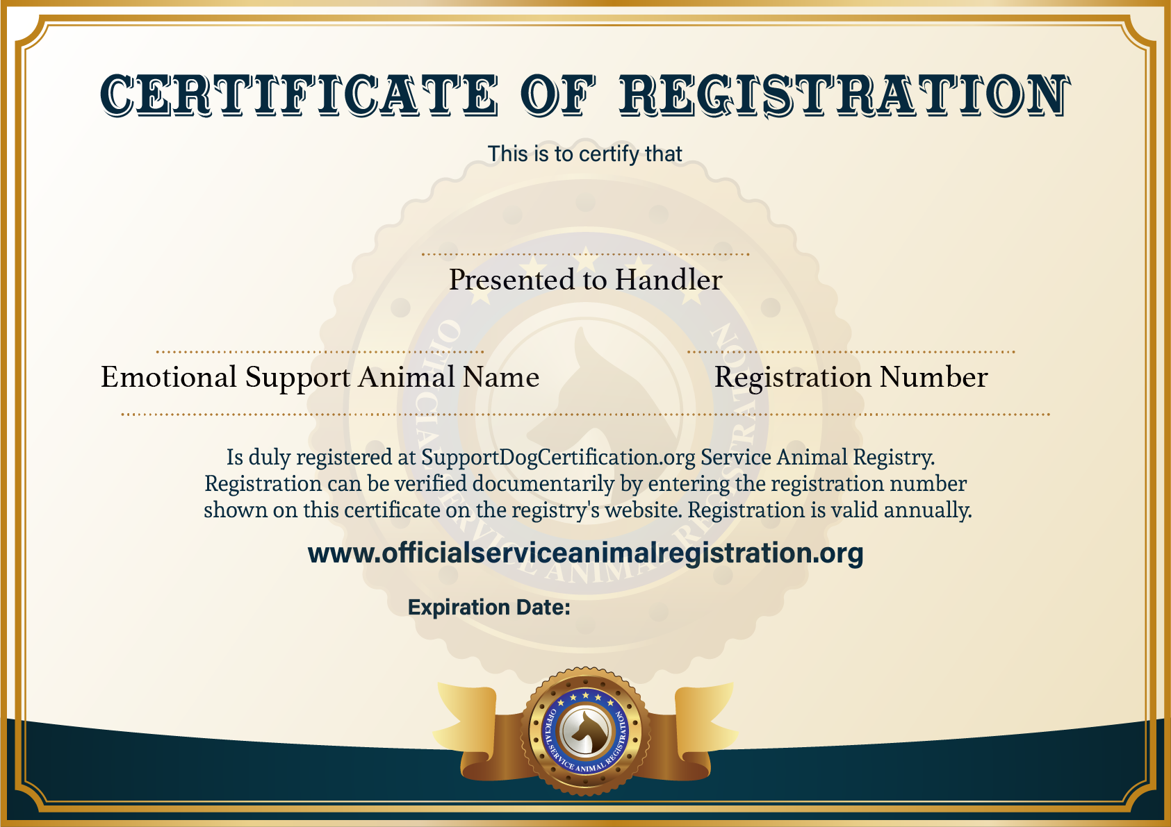 Offcial Esa Registration Esa Service Animal Registry